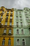 покрашенное duotone зданий Стоковое Фото