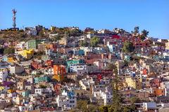 покрашенное guanajuato расквартировывает много Мексику Стоковые Изображения RF