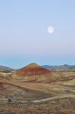 покрашенное moonset холмов Стоковые Фото