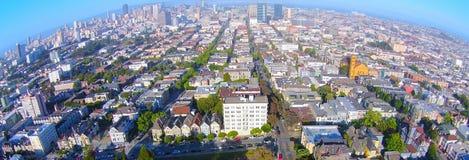 Покрашенные дамы/7 дам Сан-Франциско воздушный Стоковые Изображения