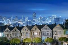 Покрашенные дамы на ноче, Сан-Франциско Стоковое Фото