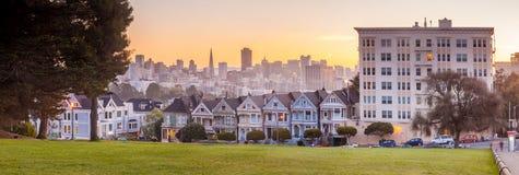 Покрашенные дамы Сан-Франциско, США Стоковая Фотография RF