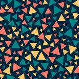 Покрашенные безшовные треугольники, темно-синая предпосылка иллюстрация штока