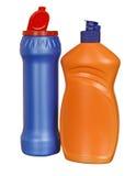 покрашенные бутылки пластичными стоковая фотография rf