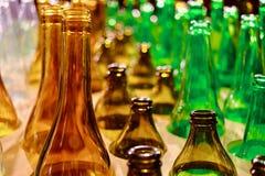 покрашенные бутылки стеклянными Стоковые Фото