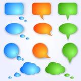 Покрашенные вектором пузыри речи иллюстрация вектора