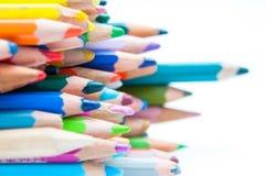 Покрашенные верхние части crayons Стоковое Изображение