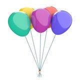 Покрашенные воздушные шары Иллюстрация вектора