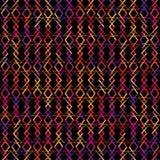 Покрашенные геометрические формы на черной предпосылке Стоковое Фото