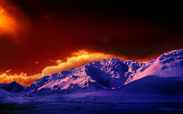 Покрашенные горы Тибета Стоковая Фотография RF