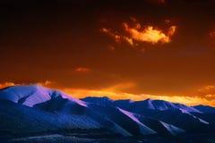 Покрашенные горы Тибета Стоковые Фотографии RF