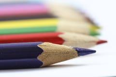 Покрашенные деревянные карандаши Стоковые Фотографии RF