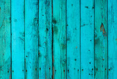 Покрашенные деревянные планки, мята и голубое, предпосылка текстуры Стоковое Фото