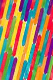 Покрашенные деревянные ручки Стоковые Фотографии RF