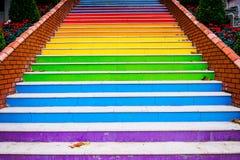 Покрашенные лестницы Стоковые Фото
