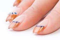 покрашенные женские ногти стоковая фотография rf