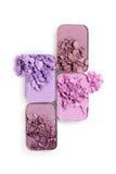 Покрашенные задавленные тени для век для составляют как образец косметического продукта Стоковая Фотография RF