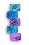 Покрашенные задавленные тени для век для составляют как образец косметического продукта Стоковое Изображение RF