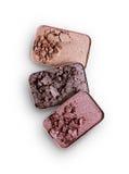 Покрашенные задавленные тени для век для составляют как образец косметического продукта Стоковые Фотографии RF
