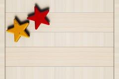 Покрашенные звезды, ногти и деревянная доска Стоковая Фотография RF