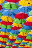 Покрашенные зонтики Стоковые Фотографии RF