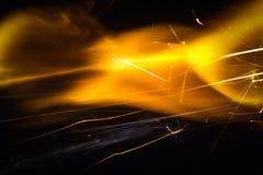 Покрашенные искры огнива стоковое фото rf