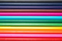 покрашенные карандаши сырцовые Стоковые Фото