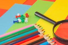 покрашенные карандаши Карандаши текстуры покрашенные древесиной Стоковое Изображение