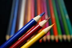 покрашенные карандаши цветов основные Стоковое фото RF