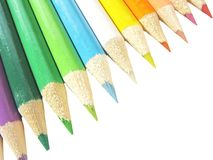 покрашенные карандаши Стоковое фото RF