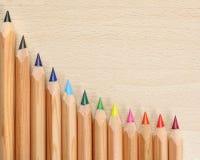 покрашенные карандаши стоковые изображения