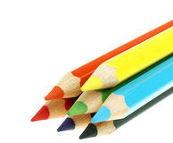 покрашенные карандаши Стоковая Фотография RF