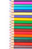 Покрашенные карандаши изолированные на белой предпосылке Стоковые Изображения
