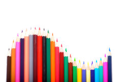 Покрашенные карандаши изолированные на белой предпосылке Стоковое Изображение RF