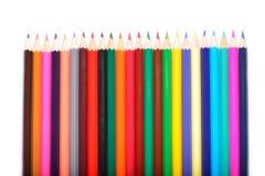 Покрашенные карандаши изолированные на белой предпосылке Стоковые Изображения RF