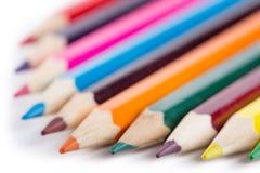 покрашенные карандаши номера Стоковая Фотография RF