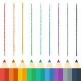 покрашенные карандаши также вектор иллюстрации притяжки corel Справочная информация Стоковые Изображения