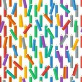 покрашенные карандаши также вектор иллюстрации притяжки corel Справочная информация Бесконечную текстуру можно использовать для п Стоковое Изображение