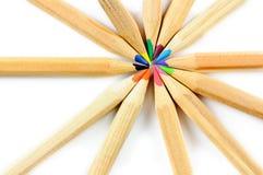 Покрашенные карандаши школы стоковые изображения rf