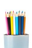 Покрашенные карандаши для рисовать стоковые фотографии rf