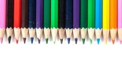 покрашенные карандаши Стоковые Фотографии RF
