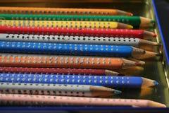 Покрашенные карандаши 1 Стоковые Фото
