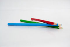 покрашенные карандаши Стоковая Фотография