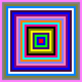 Покрашенные квадраты Стоковые Фото