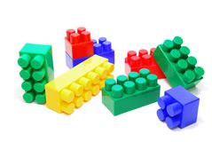 Покрашенные кирпичи Lego Стоковое Изображение