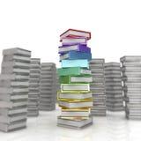 Покрашенные книги на белизне Стоковое фото RF