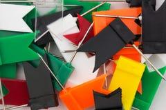 покрашенные кнопки в форме флагов Стоковая Фотография RF