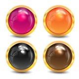 Покрашенные кнопки Иллюстрация штока