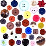 Покрашенные кнопки Стоковая Фотография RF