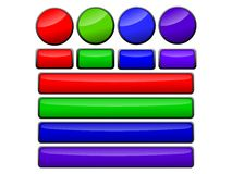 покрашенные кнопки shinny Стоковая Фотография